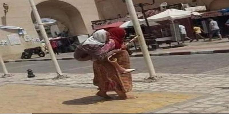 بعد أن انتشرت صورتها على شبكة التواصل الاجتماعي: وزارة المرأة تتدخل