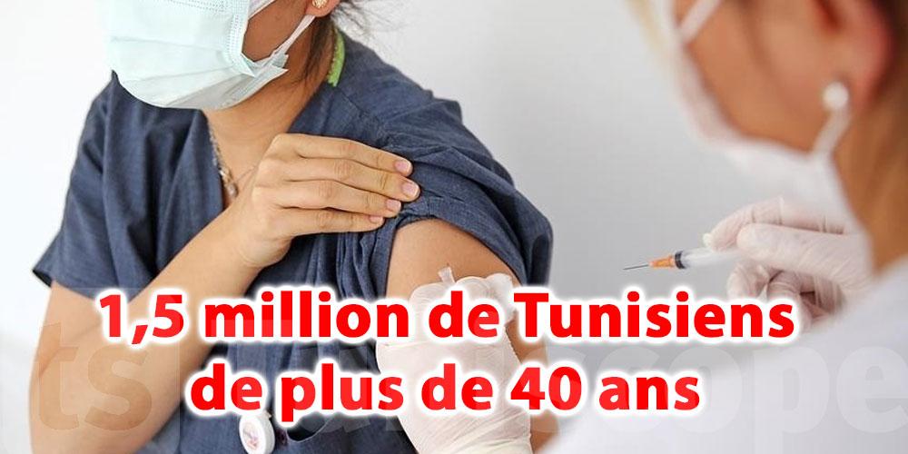 1,5 million de Tunisiens de plus de 40 ans disent non au vaccin