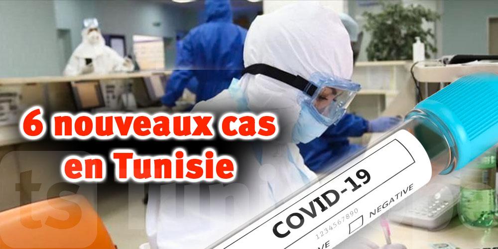 6 nouveaux cas de Covid-19 en Tunisie