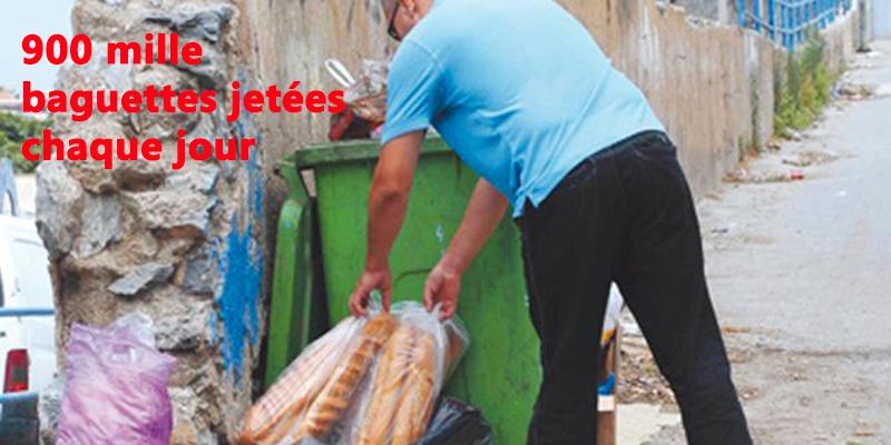 900 mille baguettes sont jetées quotidiennement à la poubelle en Tunisie