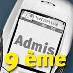 Détails pour recevoir les résultats du concours de la 9ème par SMS