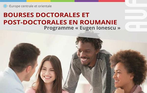 L'Ambassade de Roumanie lance un appel pour les Bourses de Recherche doctorale et postdoctorale ''Eugen Ionescu'' 2017-2018