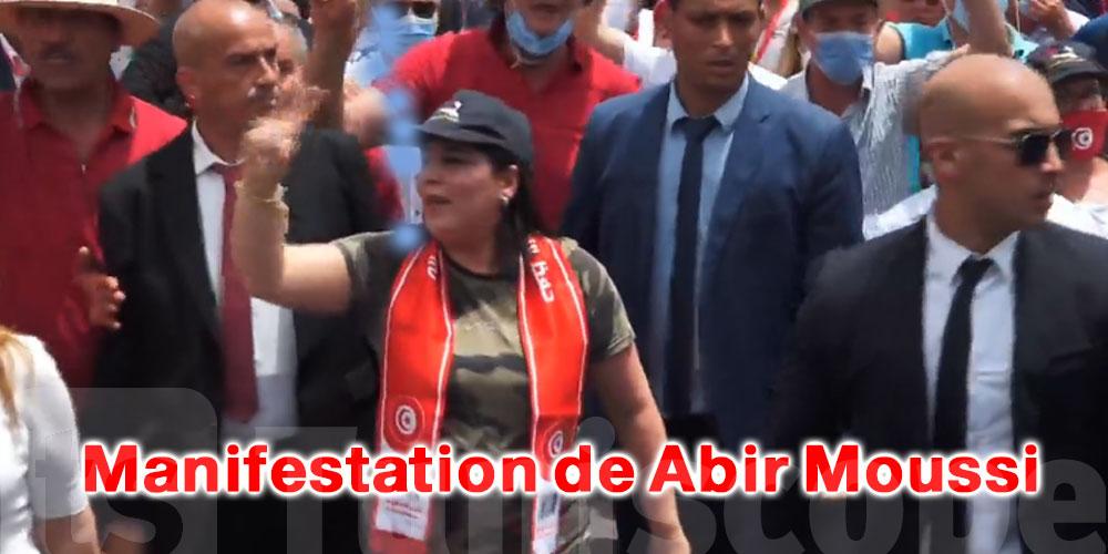Tenue de camouflage et chansons patriotiques : l'étrange assortiment de Abir Moussi