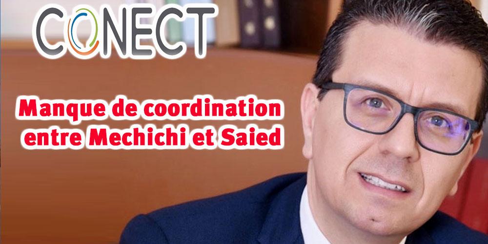 Il y a une absence de coordination entre la présidence de la république et le bureau de Mechichi selon Conect