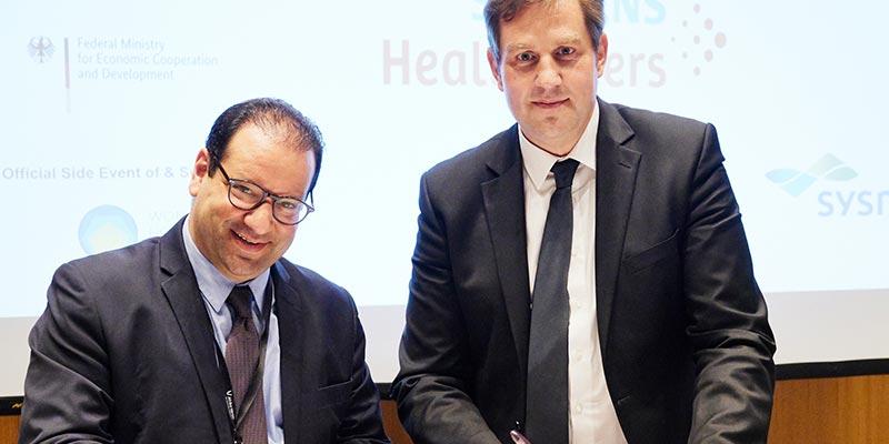 Signature à Berlin entre ''German Health Alliance ''et ''Tunisia Health Alliance'' d'une lettre d'intention pour la mise en place d'un partenariat stratégique