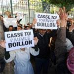 Manifestation contre Boris Boillon Ambassadeur de France