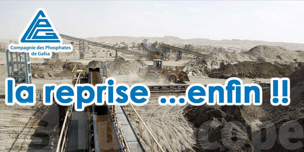 Le travail reprend à la Compagnie des phosphates de Gafsa