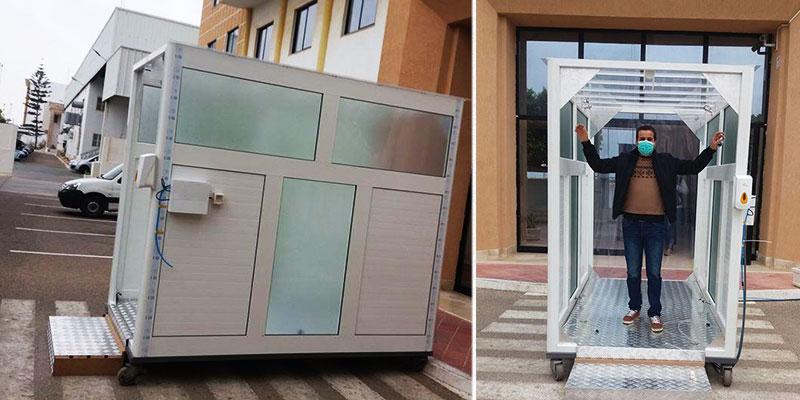 Des cabines automatiques anti-épidémiques mobiles produites en séries