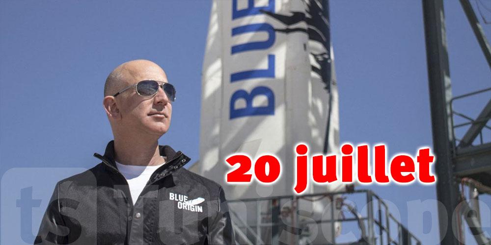 20 juillet : date du 1er voyage de tourisme spatial organisé par Jeff Bezos