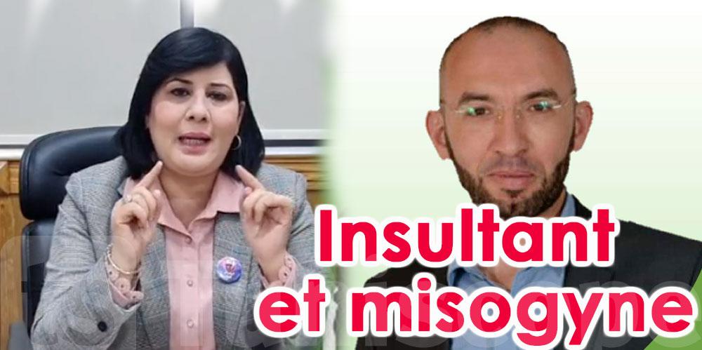 Abir Moussi s'insurge contre un Mohamed Affes insultant envers les femmes