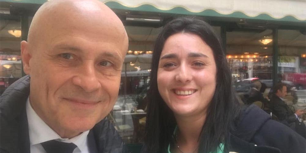 Retrouvailles chaleureuses entre Ons Jabeur et Olivier Poivre d'Arvor