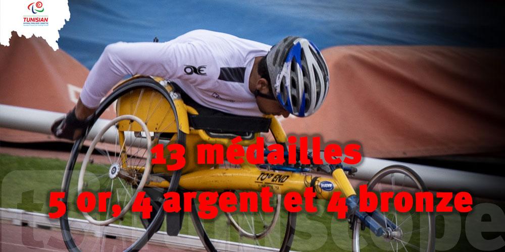 Para-athlétisme :13 médailles pour la Tunisie dont 5 en or