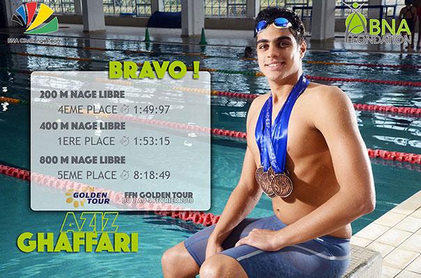 BNA Challenge Team : Le nageur Aziz Ghaffari réalise des bna-210917surperformances au Golden Tour Nice 2018