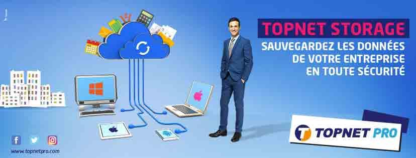 Topnet enrichi ses solutions Cloud par une nouvelle offre de Storage.