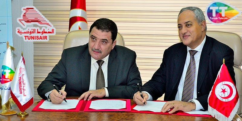 TUNISAIR et Tunisie Telecom signent un nouvel accord de partenariat en matière de la sécurité des informations