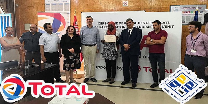 TOTAL TUNISIE – ENIT: Remise des certificats de participation à la formation TPA