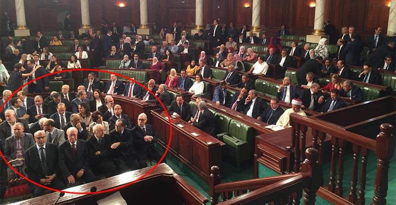 بالصور: ترتيب جلوس الشخصيات الوطنية في المجلس