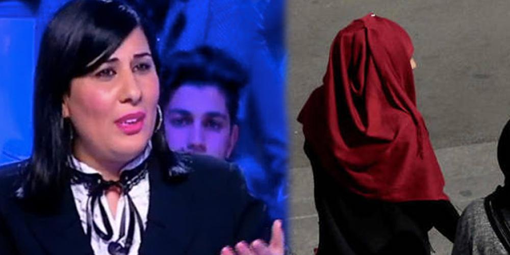 Pourquoi une femme voilée rejoint-elle le parti de Abir Moussi? demande Masmoudi
