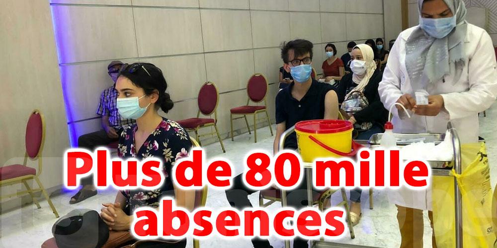 Vaccin: Plus de 80 mille absences enregistrées hier