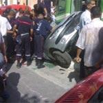 Station 10 décembre : collision entre un métro et une voiture