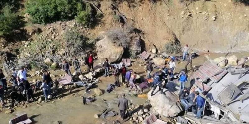 Accident de Amdoun : Des victimes âgées de 20  à 30 ans