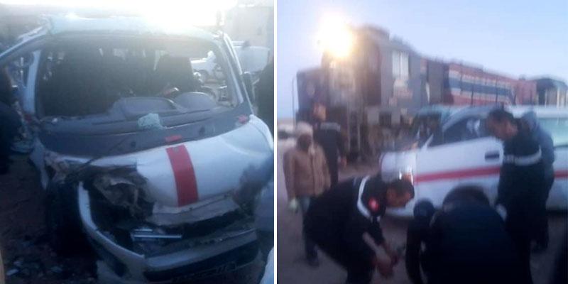 Une collision entre un train et un ''louage'' fait 9 blessés à Tozeur