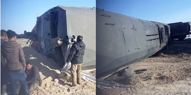 Accident entre un train et un camion transportant le phosphate à Gafsa