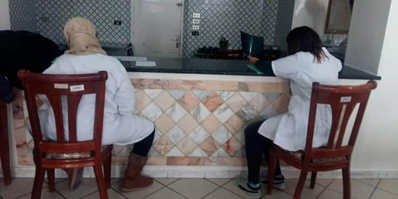 A l'hôpital d'enfants, on déloge un examen clinique pour tenir une réunion de l'UGTT