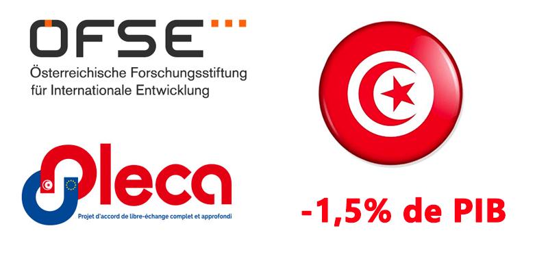 1.5% de perte en PIB sera l'impact de l'accord de l'ALECA selon une étude de l'OFSE