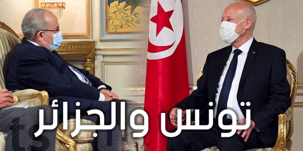 قيس سعيّد يستقبل وزير الخارجية الجزائري