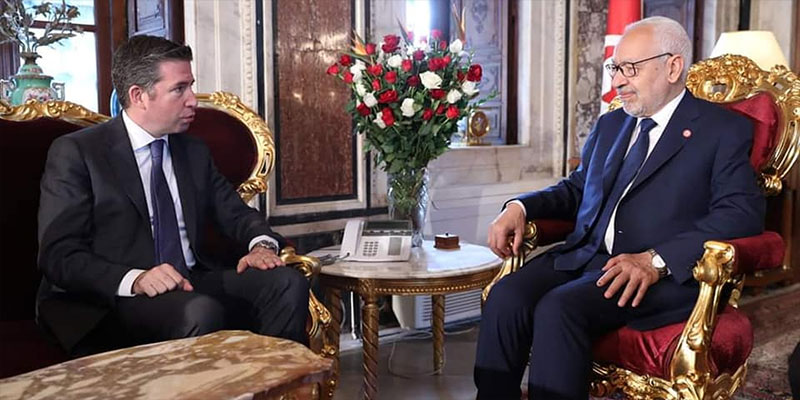 الغنوشي يستقبل سفير تركيا بتونس