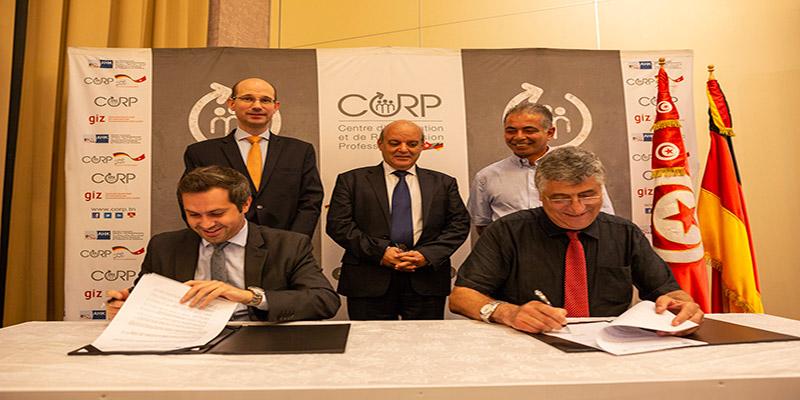 Signature d'une convention de partenariat stratégique entre le CORP et l'ANETI en présence du Ministre de la Formation Professionnelle et de l'Emploi