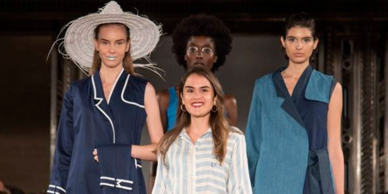 En photos : La tunisienne Anissa Meddeb présente sa nouvelle collection à la Fashion Week de Londres