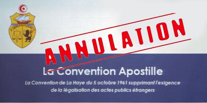 L'authentification des documents officiels par Apostille est annulée