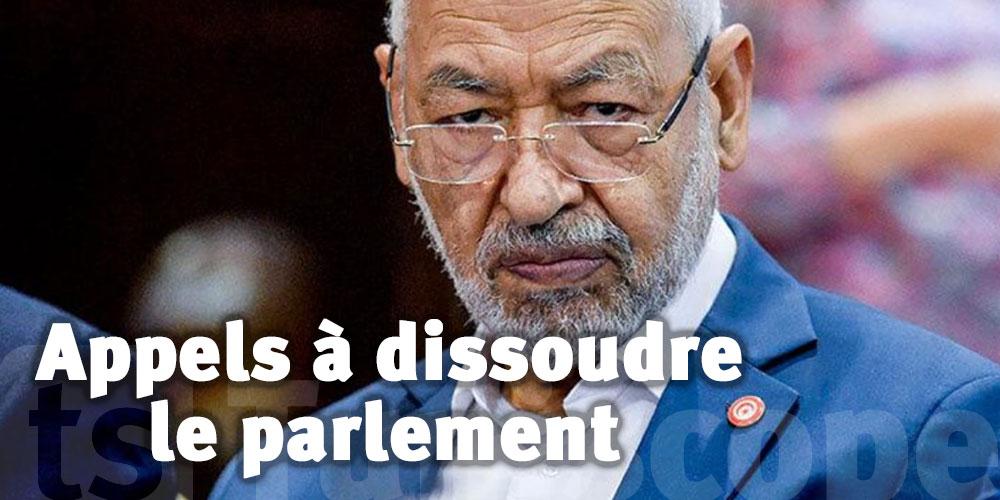 Ghannouchi réagit aux appels à dissoudre le parlement