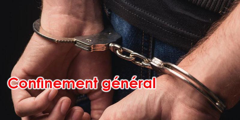 70 arrestations pour non-respect du confinement général