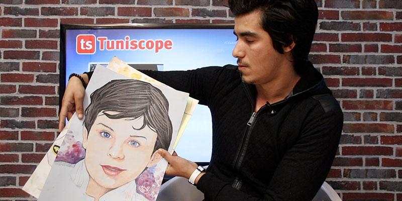 بالفيديو: نجيب الڨاسمي، حين تُزهر الموهبة لوحاتٍ فنيّة