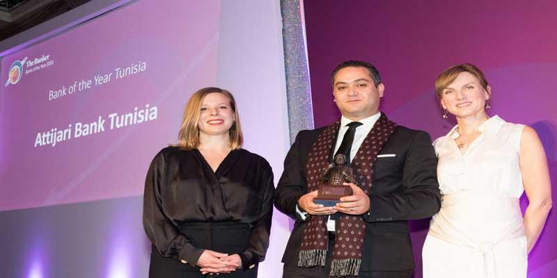 Attijari bank élue meilleure banque de l'année 2018 par le prestigieux magazine « The Banker » du groupe Financial Times « Bank of The Year 2018- Tunisia »