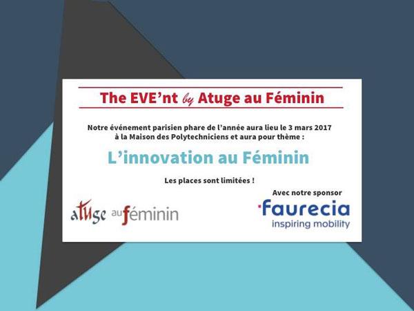 The EVE'nt By ATUGE au Féminin Le 3 mars 2017 à Paris