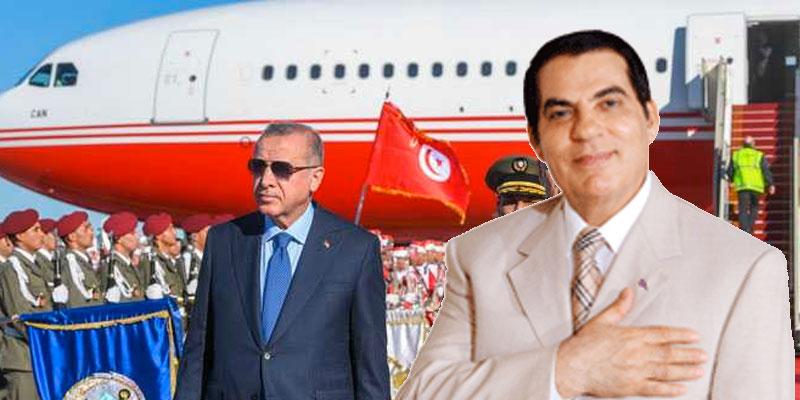 Erdogan a atterri en Tunisie avec l'ex avion de Ben Ali