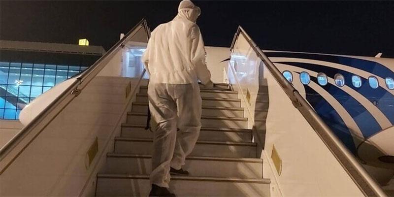 تعقيم الطائرات المصرية في مطار القاهرة