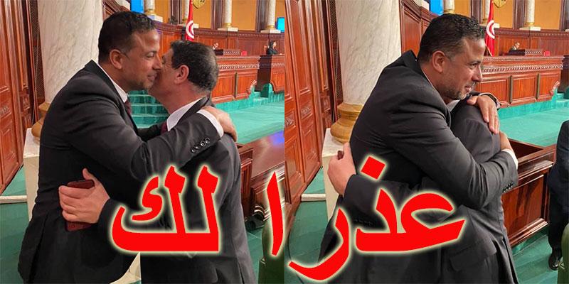 بالصور، سيف الدين مخلوف يعتذر للعياشي الهمّامي