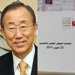 Ban Ki-Moon salue le déroulement 'pacifique' et 'ordonné' de l'élection de la Constituante en Tunisie