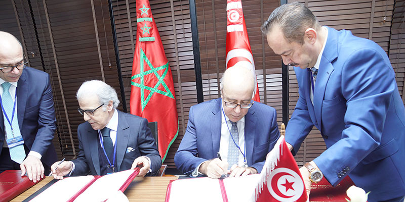 Signature de conventions entre la Banque Centrale de Tunisie et Bank Al-Maghrib
