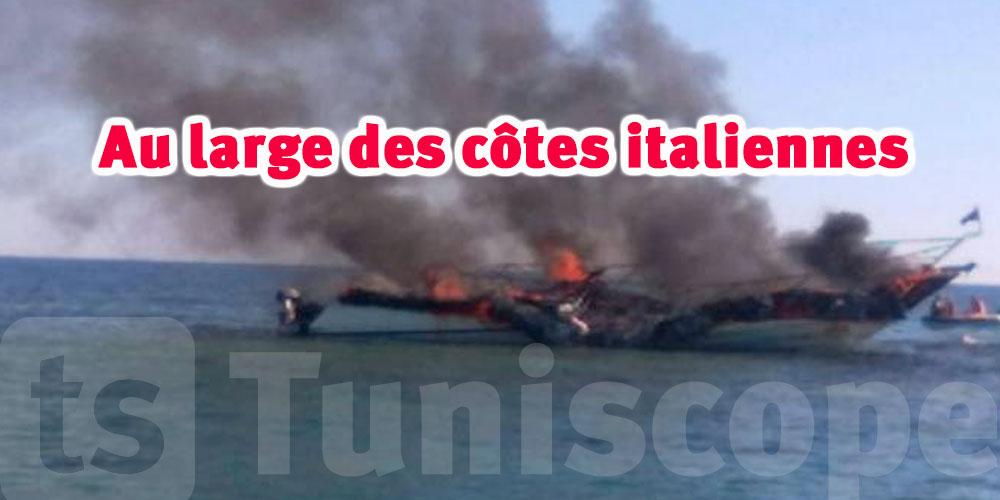 Quatre migrants meurent dans un bateau ravagé par le feu au large de l'Italie