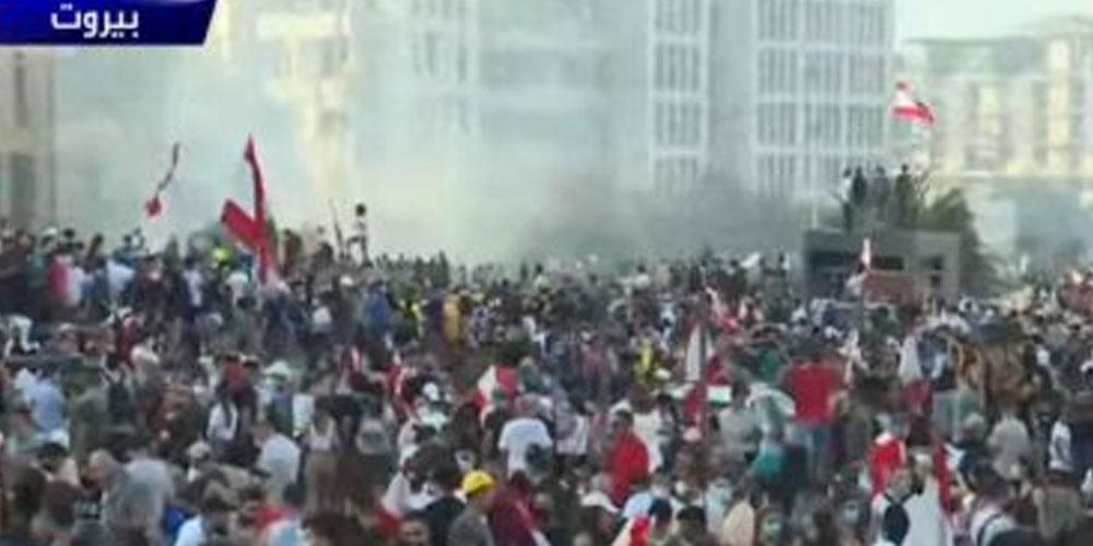 عاجل: متظاهرون يقتحمون وزارة الخارجية اللبنانية
