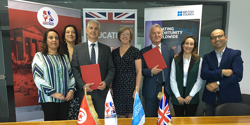 La Chambre de Commerce Tuniso- Britannique et le British Council signent une convention de partenariat