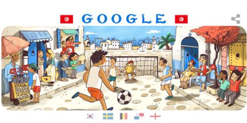 En photos : Google à la célébration du match Tunisie vs Angleterre