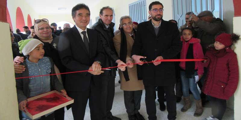 Cérémonie d'inauguration du  Projet de l'Aménagement de l'Ecole Primaire Nagachia à Beja