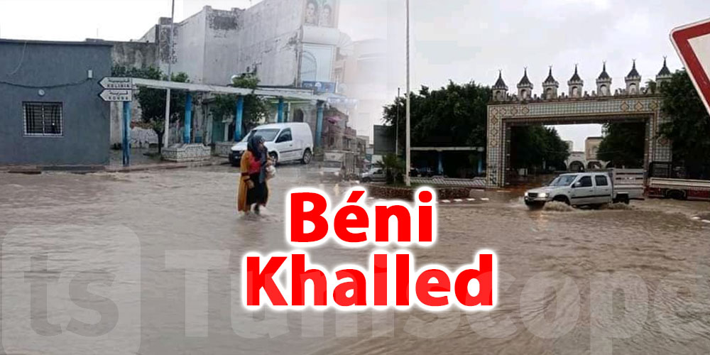 En photos: Les pluies inondent Béni Khalled
